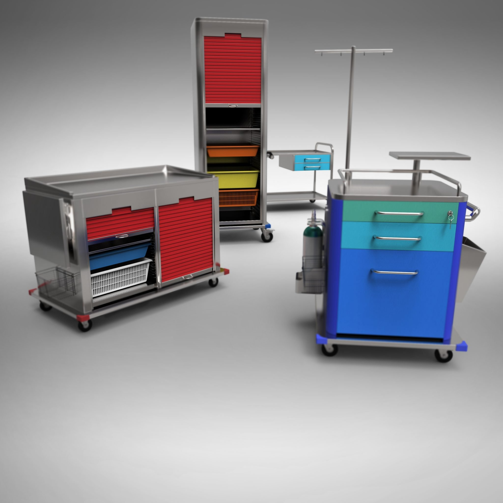 XMed - Attrezzature Inox Per il Medicale -Carrelli Ospedalieri Multiuso In Acciaio Inox